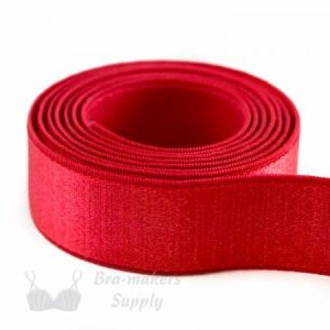 bra strap elastic satin red