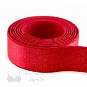 bra strap elastic satin red