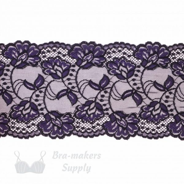 stretch lace black & purple