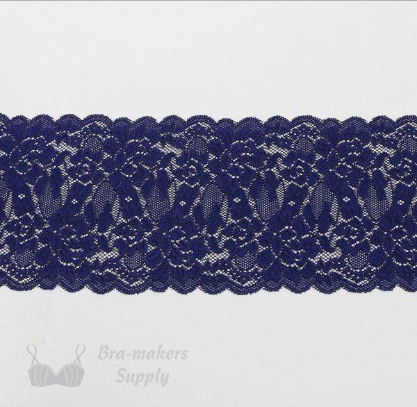 six inch navy stretch lace