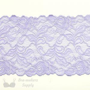 lilac stretch lace rose design