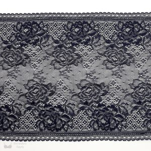 indigo and silver stretch lace