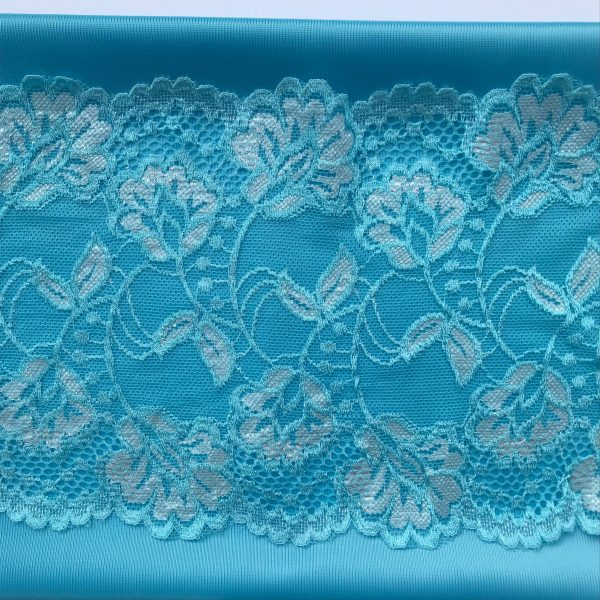 fabric and lace trio turquoise