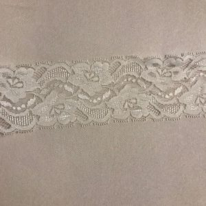 cream stretch lace edging 2.5ins