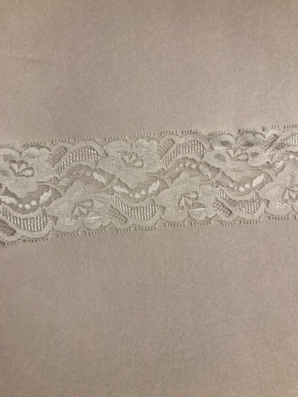 cream stretch lace edging 2.5ins