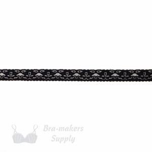 black stretch lace edging