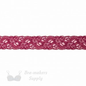 raspberry stretch lace edging 2ins